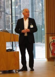 David Goodman giving the keynote speech at LDAPCon 2015